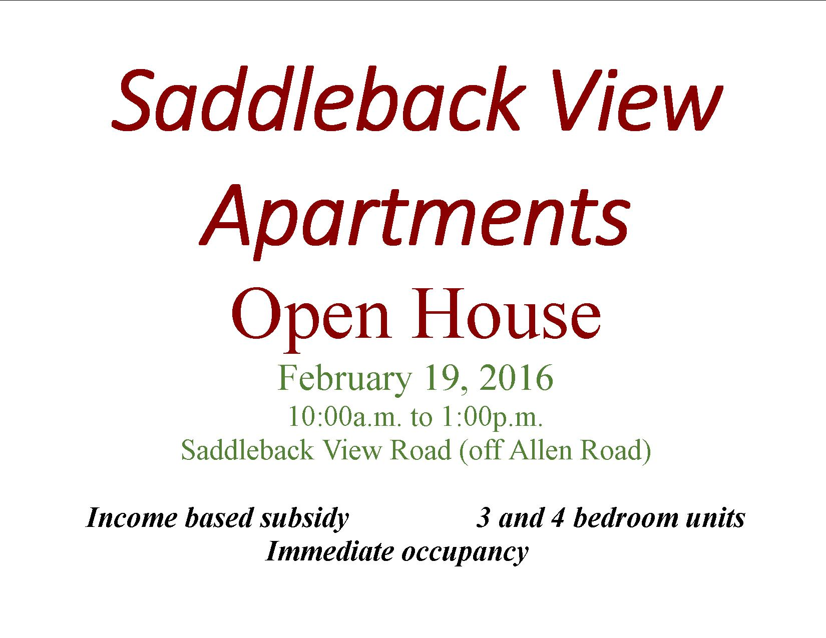 Saddleback View Apartments